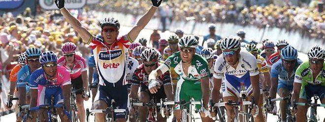 La dernière escale du Tour à Esch/Alzette date de 2006. Robbie McEwen s'était imposé facilement.