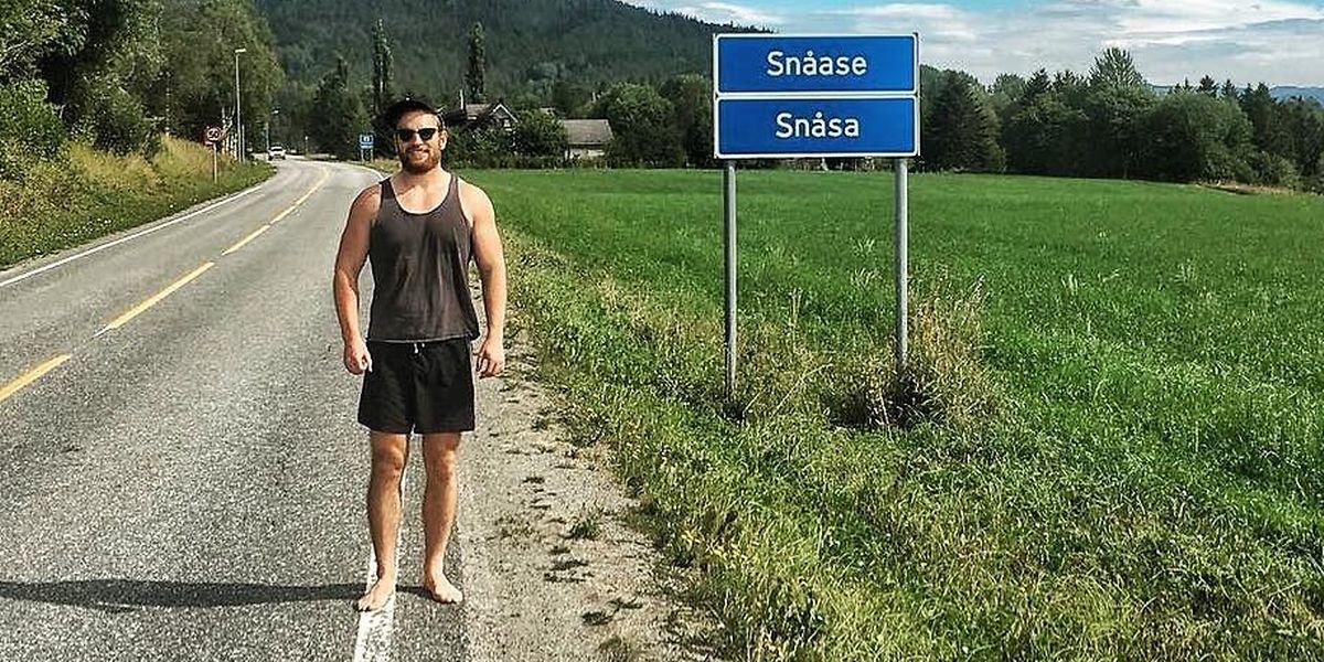 Andy Pardy berichtet von seiner Reise – etwa aus Snåsa in Norwegen – via Facebook und Twitter.