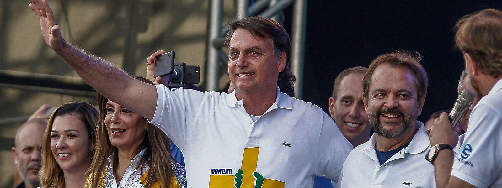 Jair Bolsonaro bei einer Wahlkampfveranstaltung.