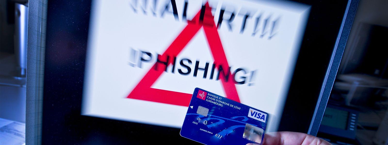 Beim Phishing werden persönliche Daten der Kunden über gefälschte Webseiten erworben.