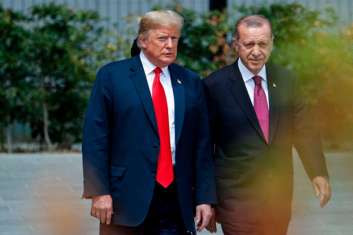 Trump und Erdogan beim Nato-Gipfel in Brüssel im Juli 2018: Der türkische Präsident ließ offen, ob das Treffen mit seinem amerikanischen Amtskollegen am 13. November zustande kommen wird.