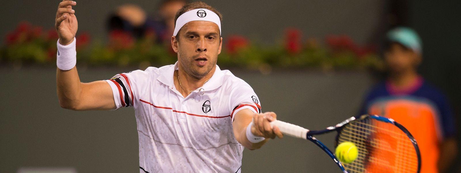 Mit viel Geduld erspielt sich Gilles Muller sein Halbfinal-Ticket.