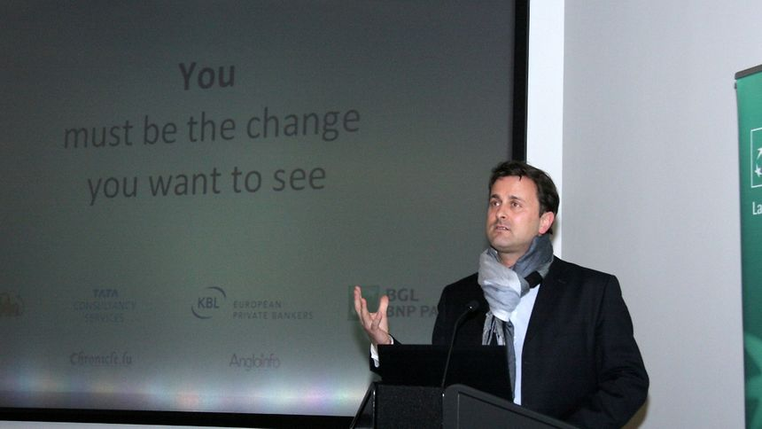 Luxembourg City mayor Xavier Bettel stresses the need to make some difficult changes in the Grand Duchy