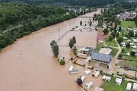 Hochwasser nach Starkregen , Rosport ,  Foto:Guy Jallay/Luxemburger Wort