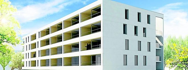 Auch die Loggien der Gebäude auf Los 2 sind nach Süden bzw. Südwesten ausgerichtet..