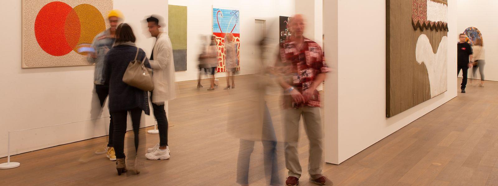 MUDAM exposition Peintures des annees 1980 et 1990, Mudam Collection, La nuit des musees 2018, Luxembourg City, Ville de Luxembourg, Kirchberg, 13.10.2018, Foto: Laurent Ludwig