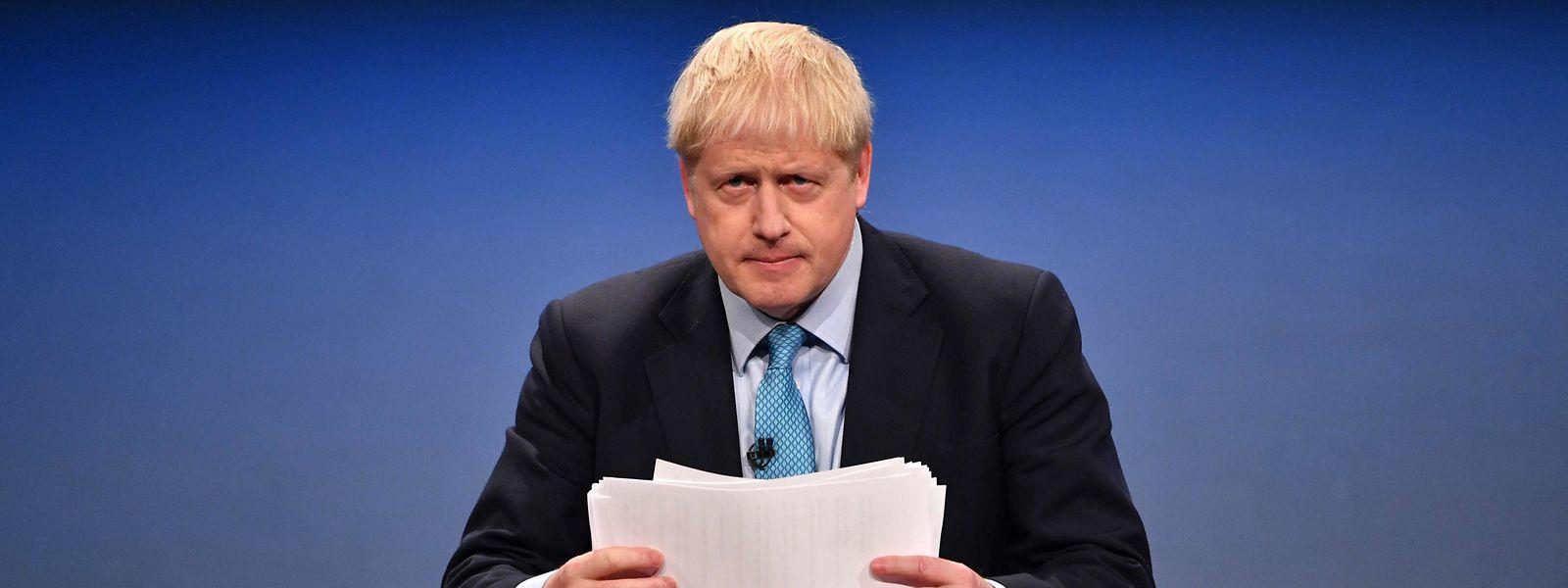 Boris Johnson während seiner Rede auf dem Parteikongress der britischen Konservativen.