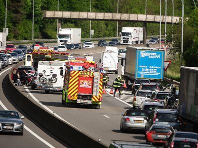 Accident voitures autoroute A6 - Photo : Pierre Matgé