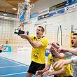 Ralf Lentz (Strassen 8) / Volleyball, Coupe de Luxembourg, Finale Maenner, Strassen - Bartringen / Bissen / 23.03.2019 / Foto: Christian Kemp