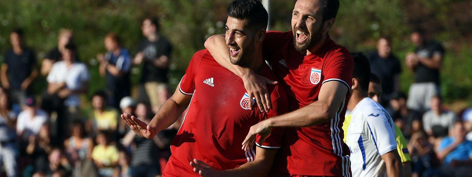 Samir Hadji und Veldin Muharemovic (r.) freuen sich auf die dritte Runde.