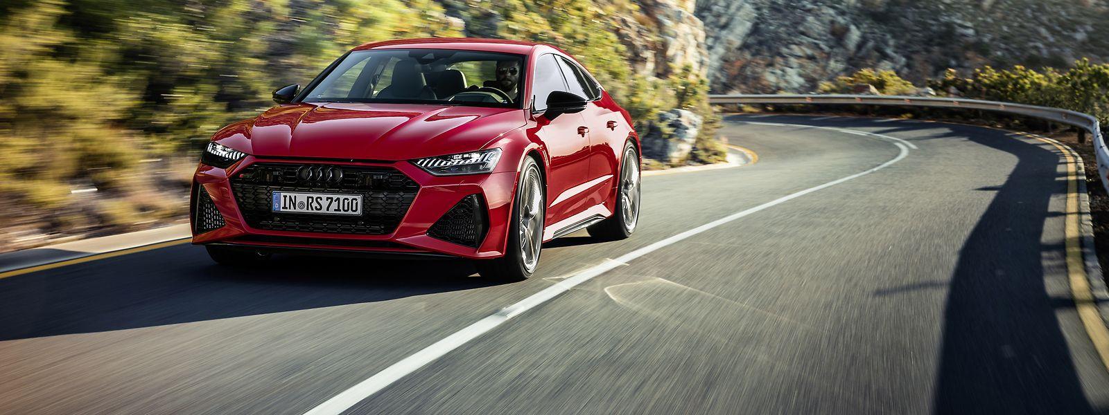 Der E-Motor im Audi RS 7 soll beim Anfahren und Beschleunigen helfen.