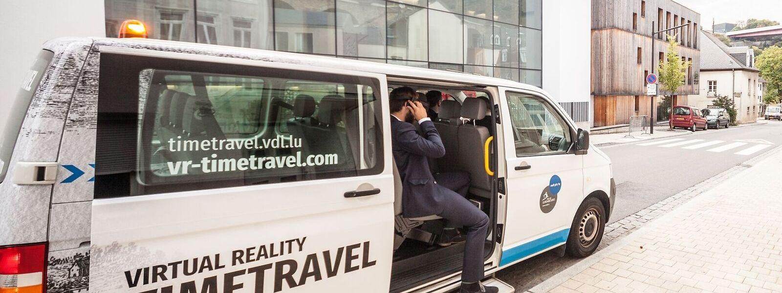 Den Kleinbus für die virtuelle Stadtrundfahrt stellt die Stadt Luxemburg zur Verfügung.