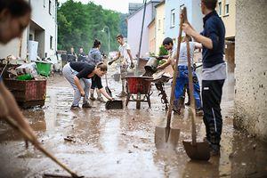 Nach den Überschwemmungen in Ermsdorf.
