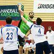 07 Handball Rueckspiel der ersten Runde im EHF Challenge Cup zwischen dem HB Kaerjeng und RK Zeleznicar 1949 Nis am 09.09.2018 Zoran RADOJEVIC (9 HBK)