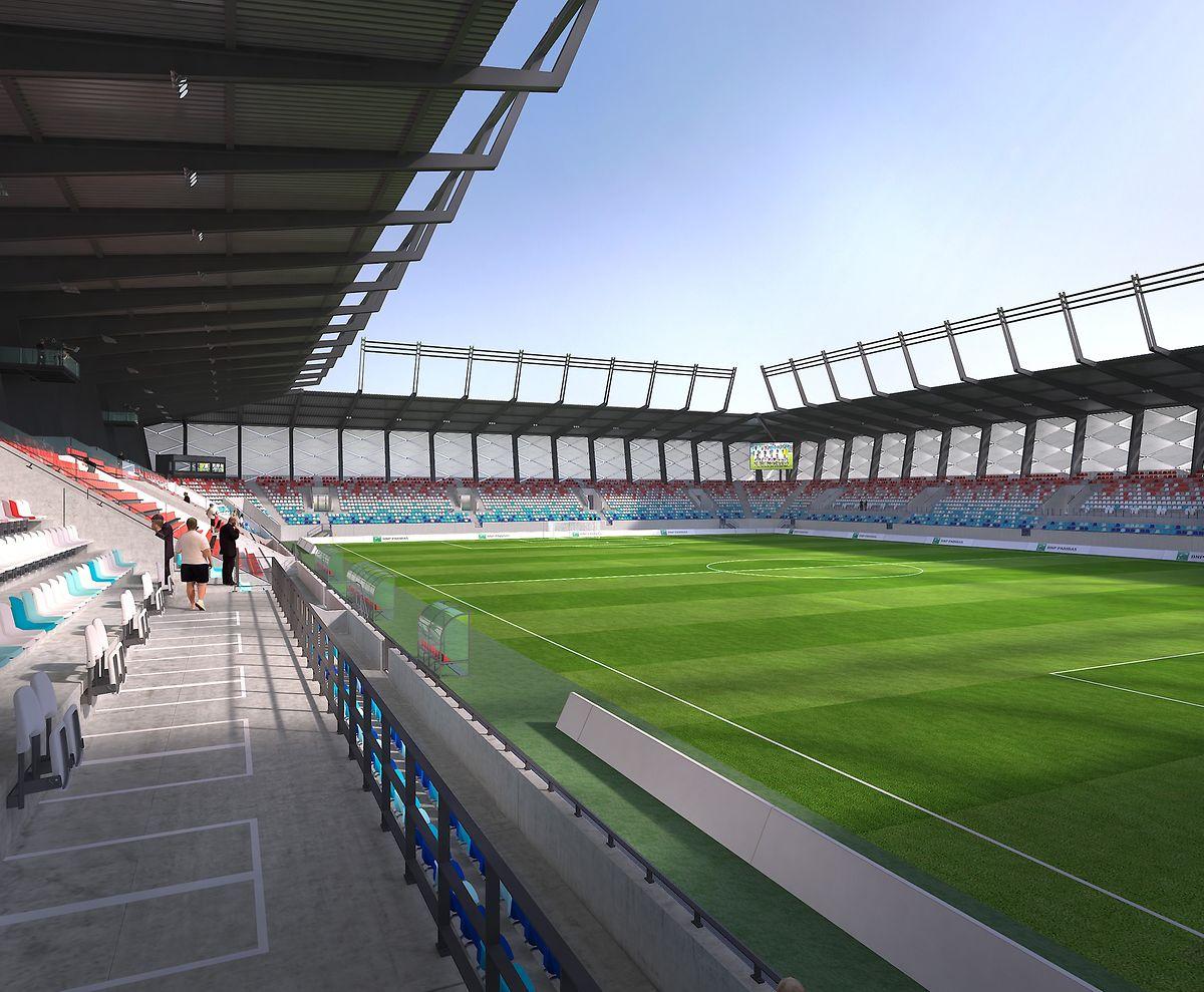 Blick ins Innere des neuen Stadions.