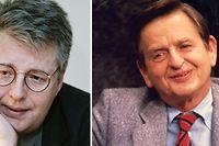 Der Krimiautor Stieg Larsson hatte wohl eine heiße Spur im Mordfall Olof Palme (r.).