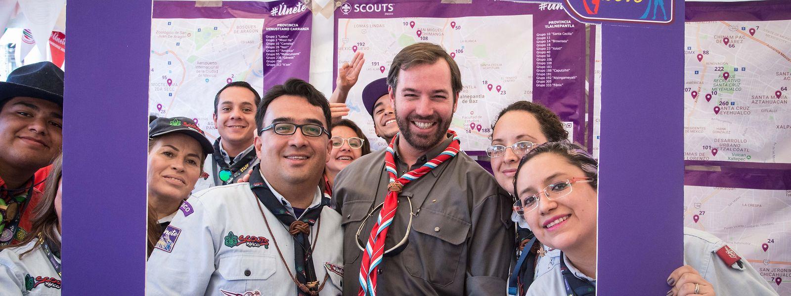 """Getreu der Tradition der großherzoglichen Familie zur Unterstützung und Förderung der Scout-Bewegung nahm Erbgroßherzog Guillaume im März vergangenen Jahres an der Sitzung der """"Baden Powell Fellows"""" in Mexico City teil."""