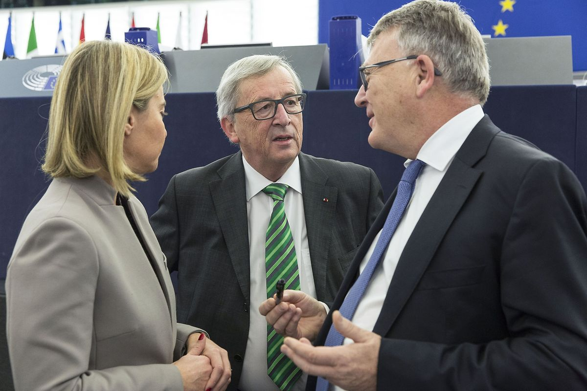 Nicolas Schmit (à droite) remplace Jean-Claude Juncker comme représentant du Luxembourg à la Commission.
