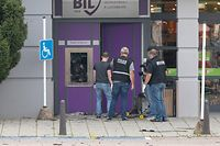 Lok , Osten , Grevenmacher , Supermarche Copal , Sprengung Bancomat BIL , Police Technique , Polizei  Foto:Guy Jallay/Luxemburger Wort