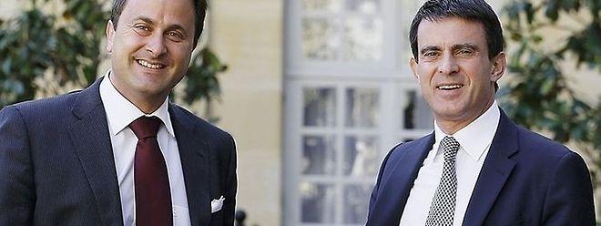 O chefe do Governo francês, Manuel Valls, vai ser recebido pelo seu homólogo luxemburguês, Xavier Bettel