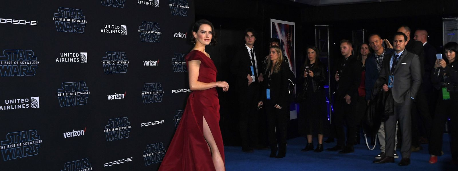 Die britische Schauspielerin Daisy Ridley bei der Weltpremiere in LA.