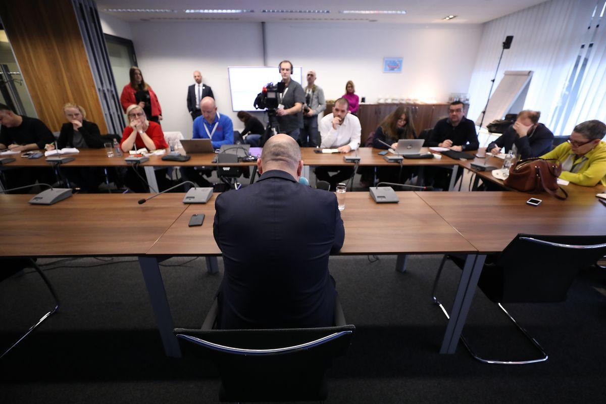 Das Medieninteresse an der Pressekonferenz war groß.
