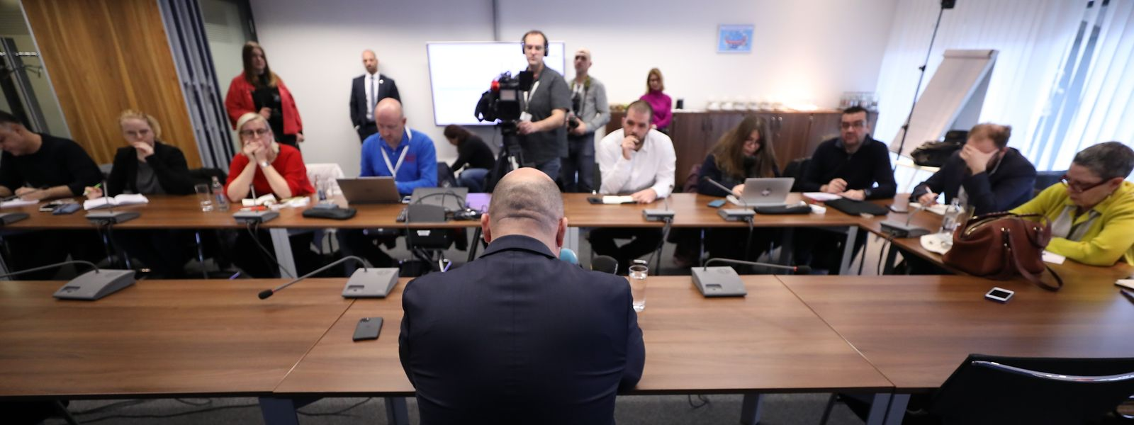Etienne Schneider a donné une conférence de presse sur sa démission lundi matin.