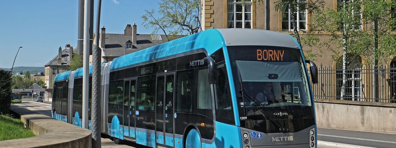 """Ähnlich wie der Mettis in Metz könnte in Zukunft ein """"Bus à haut niveau de service"""" die Minette-Region erschließen."""