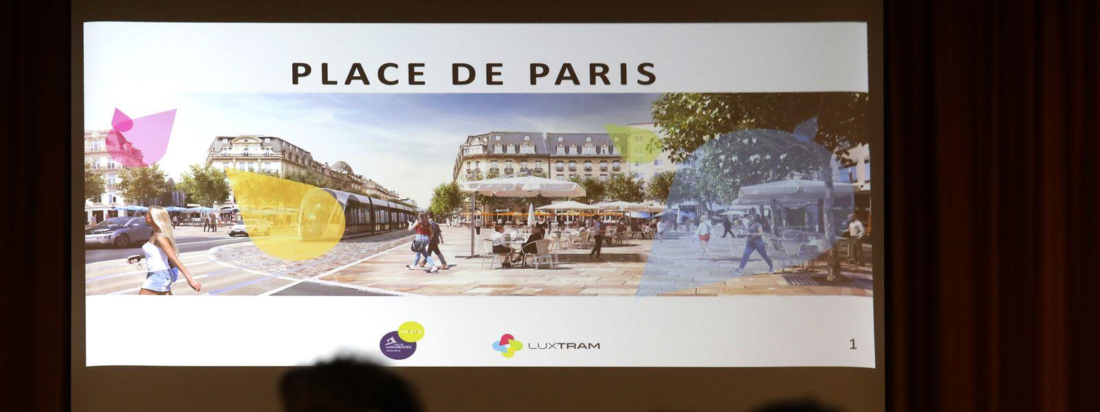 Die Place de Paris soll zu einem lebendigen, modernen Platz werden.