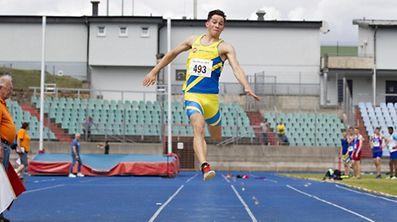 François Grailet sprang 7,58 m weit.