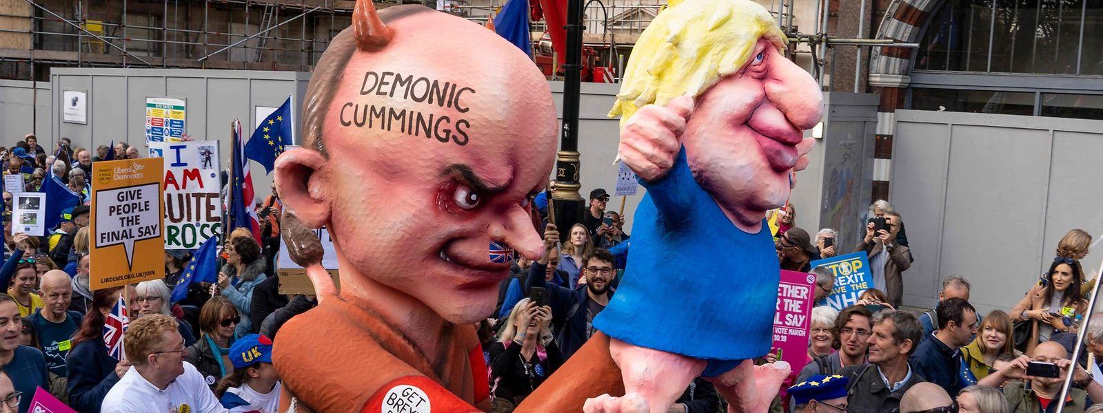 Der Marsch zog am frühen Samstagnachmittag durch London.