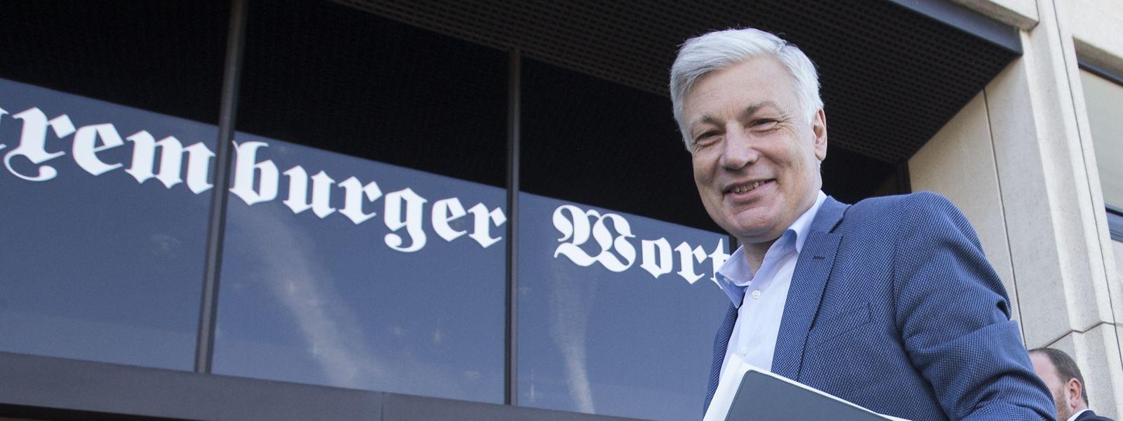 Chefredakter fir een Dag Claude Wiseler in der Redaktion des Luxemburger Wort.