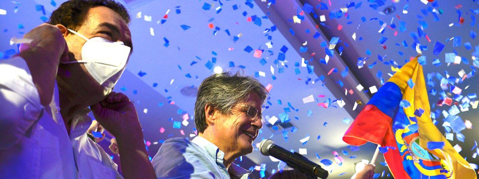 Guillermo Lasso wird der neue Präsident von Ecuador.