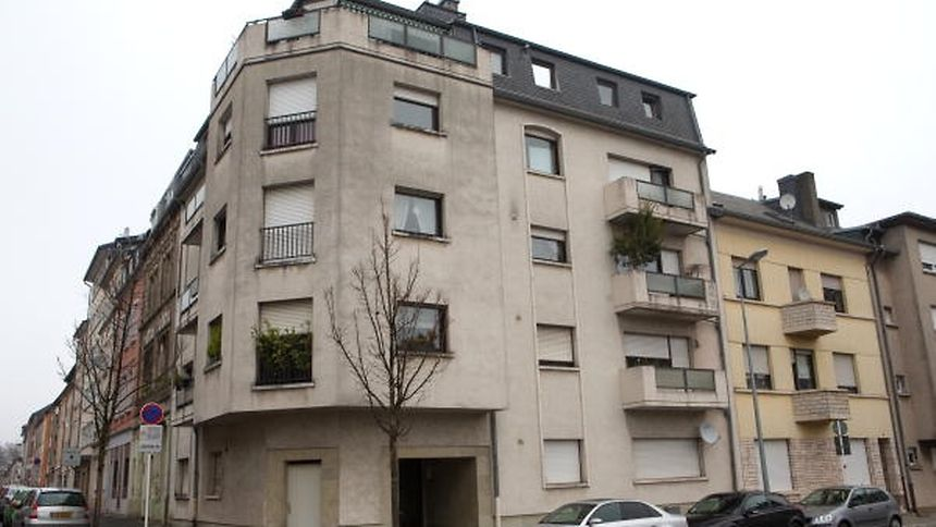The murder happened on the third floor of this apartment building in Esch/Alzette.