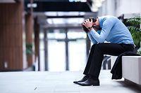 Burn ou, Depression, gestresster Geschäftsmann