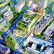 In den multifunktionalen Komplex kommen Geschäfte, Büros und Wohnungen. Die Bauarbeiten sind in vollem Gange.