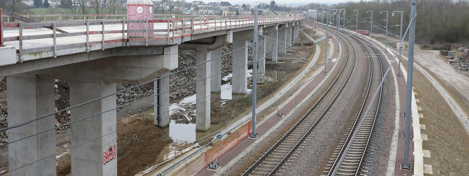 """Der sogenannte """"Saut-de-Mouton"""" wird es der neuen Zugstrecke erlauben, die bestehenden Gleise zu überqueren."""