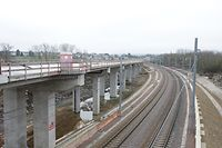 Lokales, Chantier neue Zugstrecke Bettembourg-Luxembourg CFL, foto: Chris Kraba/Luxemburger Wort