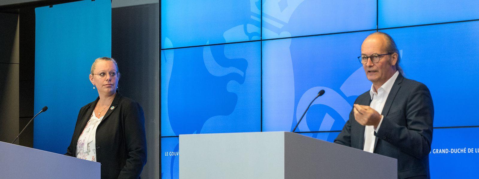 Klimaministerin Carole Dieschbourg, Energieminister Claude Turmes: zurückhaltend bei der Umsetzung des Energie- und Klimaplanes.