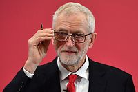 Britain's opposition Labour Party leader Jeremy Corbyn attends the launch of his party's European election campaign in Chatham, southeast England on May 9, 2019. - Britain will hold elections to the European Parliament later this month regardless of what happens in ongoing talks with the opposition to pass a Brexit deal, Prime Minister Theresa May's spokesman said on Tuesday. (Photo by Daniel LEAL-OLIVAS / AFP)