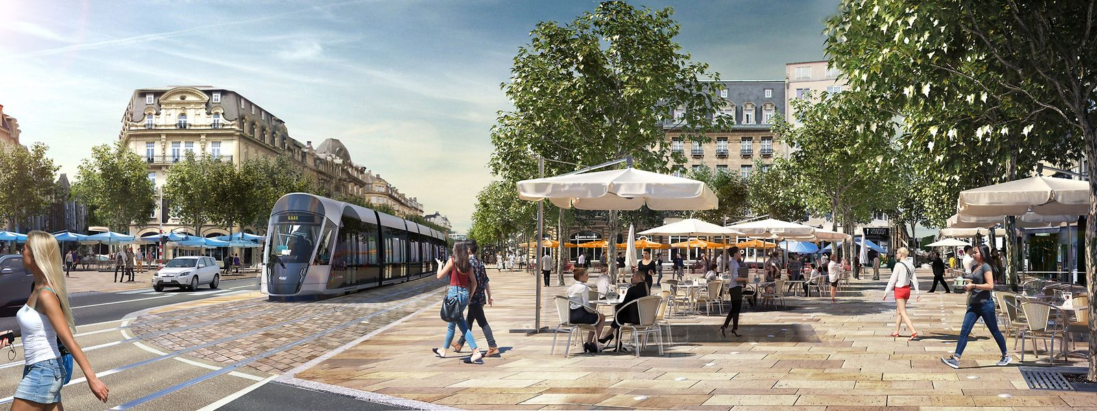 In zwei Jahren soll es auf der Place de Paris so aussehen.
