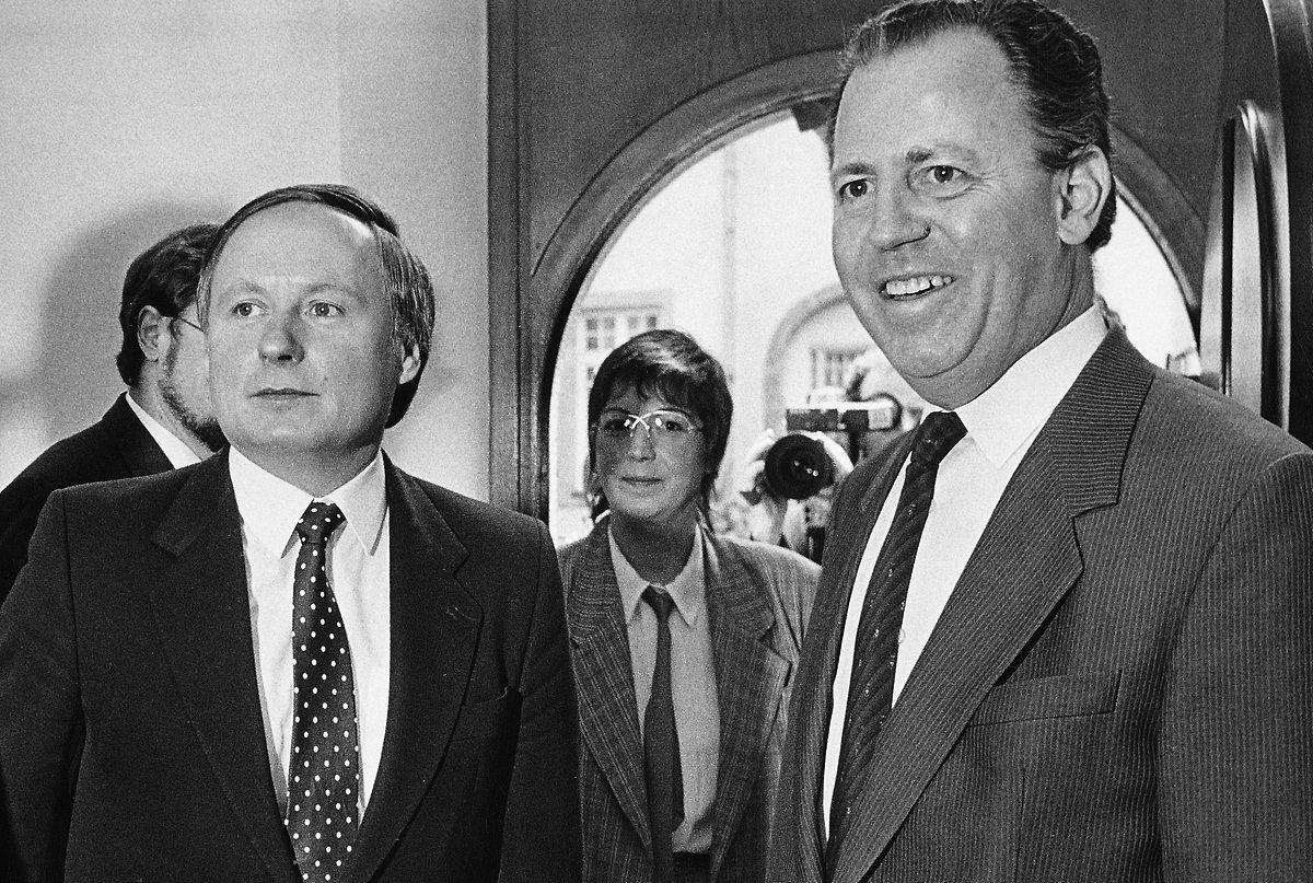 ... und 1985 mit Jacques Santer.