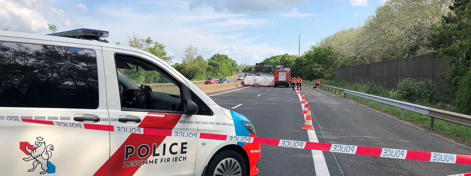 Der Mess- und Erkennungsdienst der Polizei wurde mit der Klärung des Unfallhergangs beauftragt.