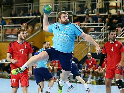 04 Handball Rueckspiel der EM Qualifikation der A Nationalmannschaft gegen Georgien in der Coque am 07.01.2017 Eric SCHROEDER (22 FLH)