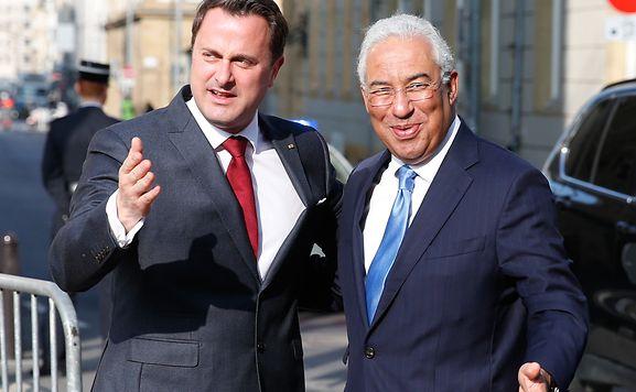 António Costa (à dir) na recente visita ao Luxemburgo