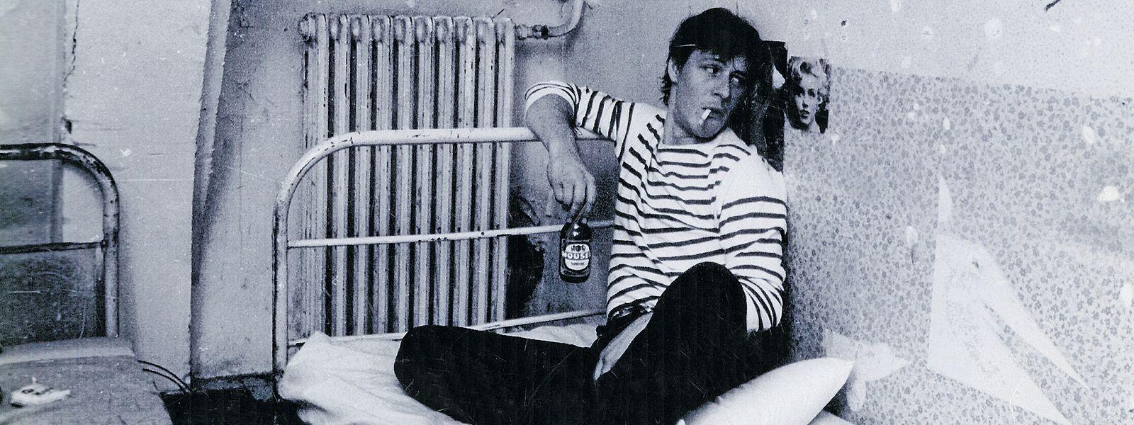 """Bei den Dreharbeiten von  """"Troublemaker"""" Ende der 1980er-Jahre: Thierry van Werveke schlüpft in die Rolle des """"Johnny Chicago""""."""