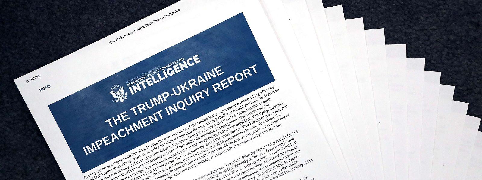 Selon le rapport de l'opposition démocrate, il existe des «preuves accablantes» de comportements «inappropriés» de Donald Trump