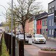 Quai Neudorf à Esch/Alzette , l'un des sites dédiés à un village de conteneurs pour réfugiés.