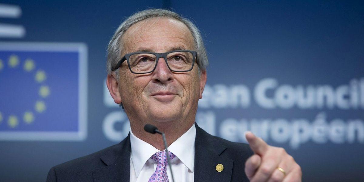 """Jean-Claude Juncker sagte nach der Sitzung: """"Wir werden mit der Türkei in den nächsten Tagen über die Finanzierung reden."""""""