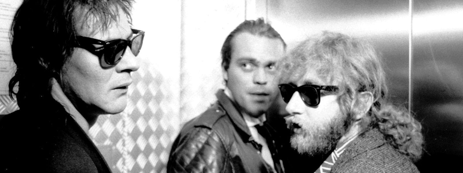 Treuer Sideman für Johnny Chicago: Ender Frings (hinten) mit Thierry van Werveke (l.) und Regisseur Andy Bausch.